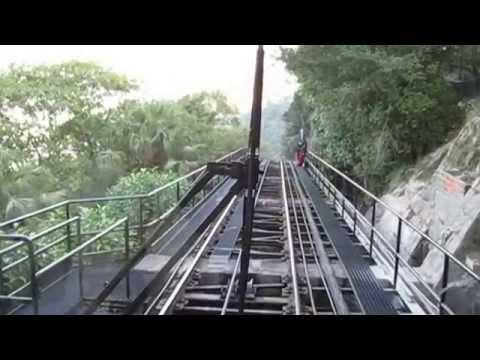 Victoria Tram decent from Victoria Peak, Hong Kong