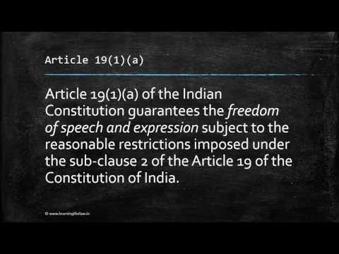 Explain the idea of Freedom of Press in India