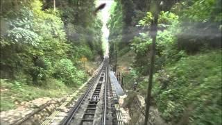 (HD) Penang Hill Railway, Malaysia, Top Station-Bottom Station.