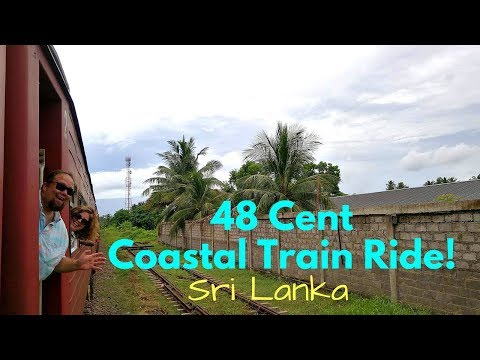 $.48 Weligama to Galle by Train | Sri Lanka Travel Vlog