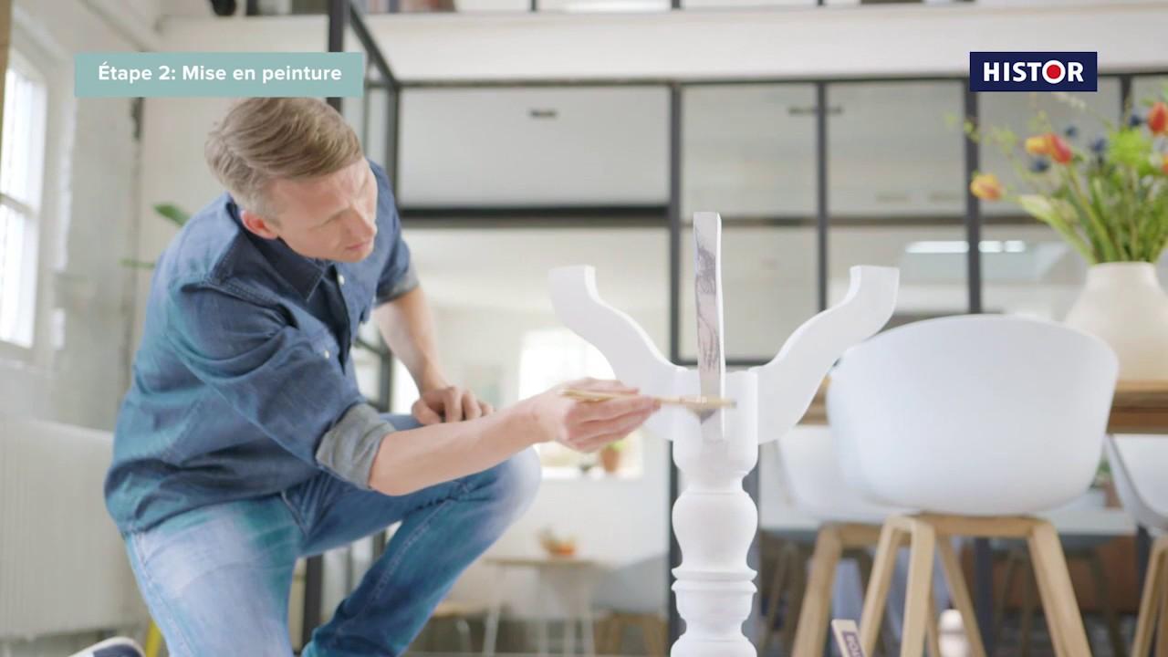 Vid o explicative histor peindre avec une peinture la - Peinture a la craie pour meuble ...