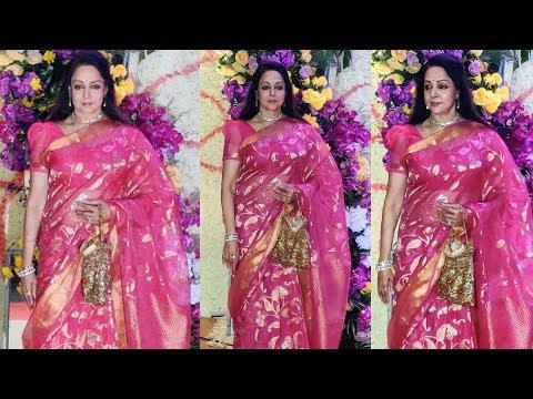 Hema Malini Arrives At Sooraj Barjatya's Son Devaansh Barjatya Wedding Reception Mp3