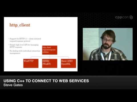 "CppCon 2014: Steve Gates ""Using C++ to Connect to Web Services"""