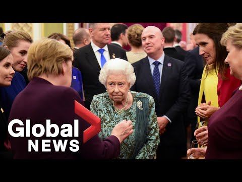 Queen Elizabeth hosts NATO world leaders at Buckingham Palace