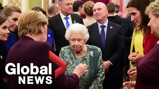 Queen Elizabeth Hosts Nato World Leaders At Buckingham Palace