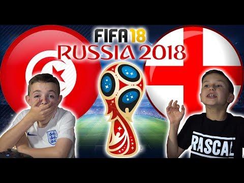 WORLD CUP 2018 | ENGLAND VS TUNISIA | FIFA 18 SCORE PREDICTOR!