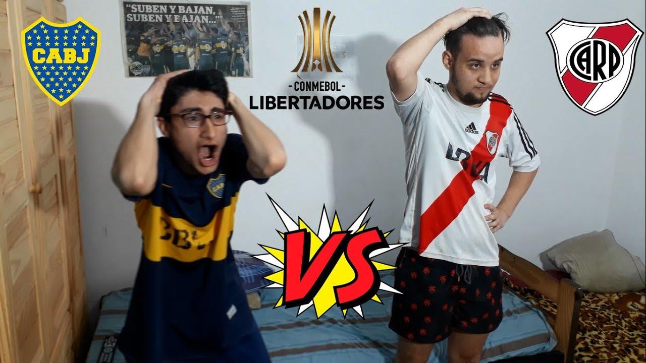 BOCA vs RIVER - FINAL DE COPA LIBERTADORES IDA - SUPERCLASICO - REACCION DE AMIGOS - YouTube