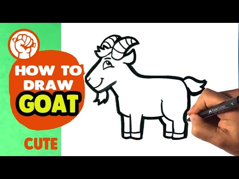 How To Draw A Cute Goat Drawing Step By Step For Beginners Kids