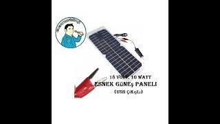 18 Volt 10Watt Solar Panel (Telefon Şarjlı)_ Kutu Açılımı ve İnceleme Videoları -21-