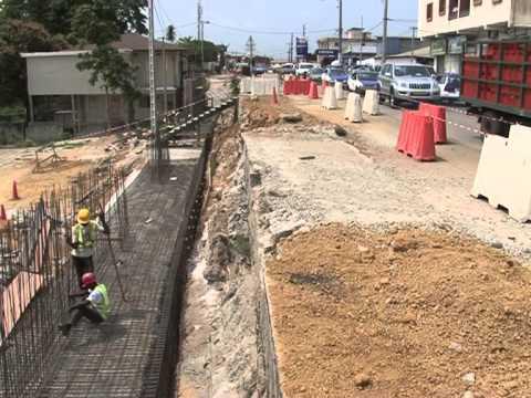 Gabon : reportage sur les aspects techniques de la route de Glass- juillet 2013