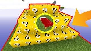 UNE IMMENSE BASE ULTRA SÉCURISÉE AVEC QUE DES LUCKY BLOCKS ! | Minecraft Bed Wars