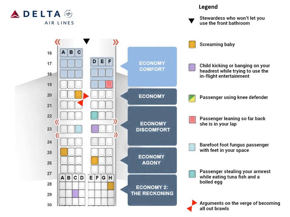 Delta U2019s New Airplane Seating Chart