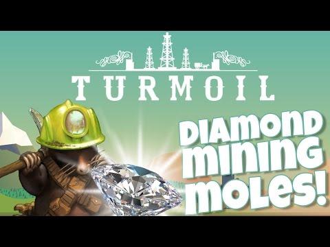 Let's Play Turmoil - DIAMOND FINDING MOLES?!?! - Turmoil Gameplay Highlights Part 5