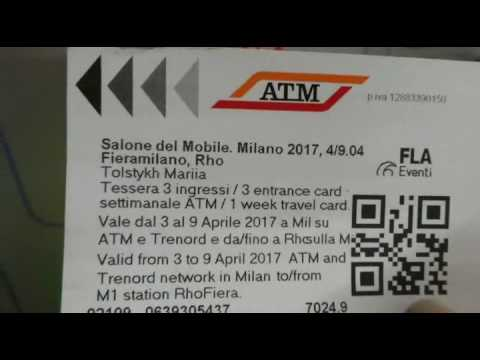 транспортная карта в Милане