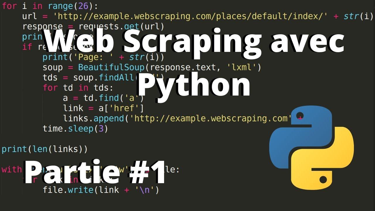 Download Apprendre le Web Scraping avec Python Français - Partie 1