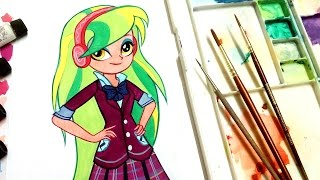 ❤ how to draw My Little Pony Equestria Girls Lemon Zest❤ Friendship Games
