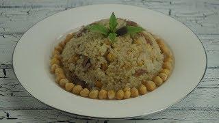 Isparta Mutfagina Ait Kabune Pilavi(Reistopf mit Fleisch und Kichererbsen)