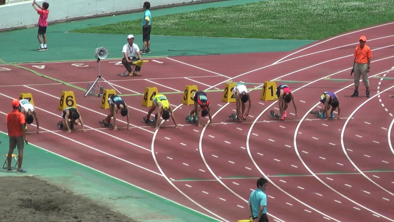 H29 千葉県 中學通信陸上 2年男子100m 準決勝3組 - YouTube