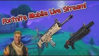 Fortnite Mobile Live Stream - Playing With Viewers! Playing Customs code ken123 na east