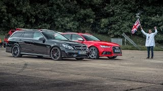 Audi RS6 vs Merc-AMG E63 S - Top Gear: Drag Races