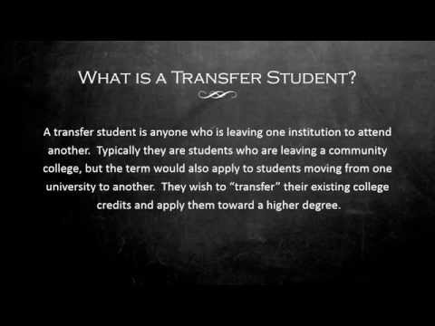CCHE688 Student Population Assignment - Transfer Students