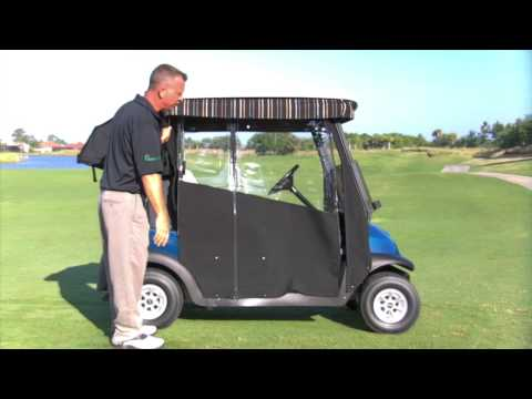 Easy-Roll Retractable Golf Cart Enclosure
