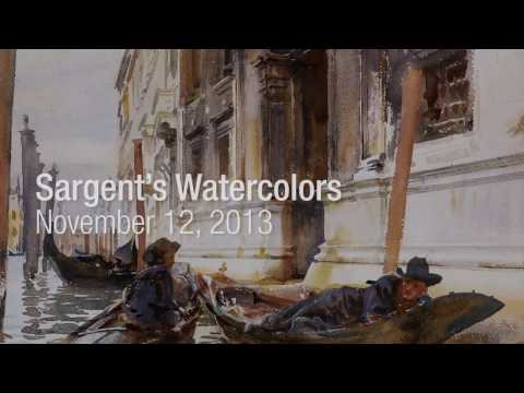 Sargent's Watercolors: Making The Best Of An Emergency