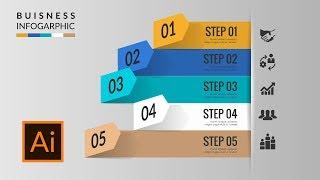 Free 3d business infographics vector template illustrator tutorial