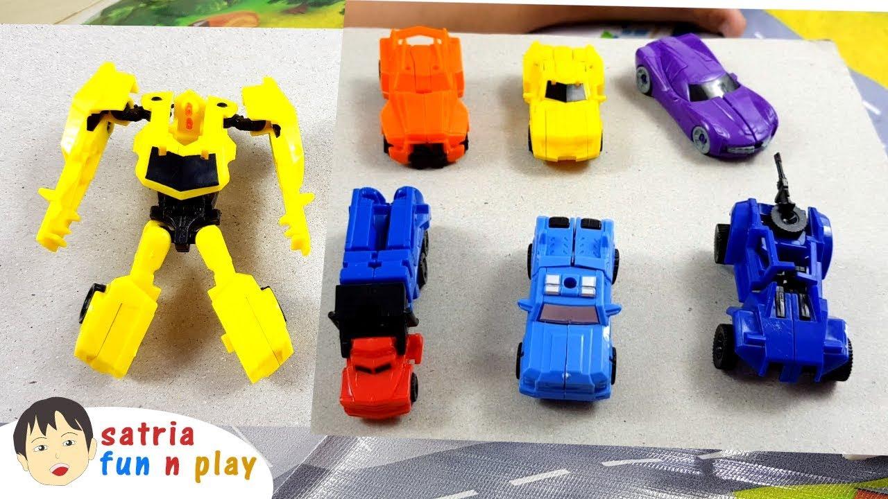 Mainan Mobil Robot Robocar Transformer Satria Fun N Play Youtube