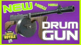 "*NEW* Fortnite: LEAKED ""DRUM GUN"" VIDEO W/ AUDIO! 