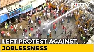 Marching For Jobs, Left Front Workers Clash With Police In Howrah