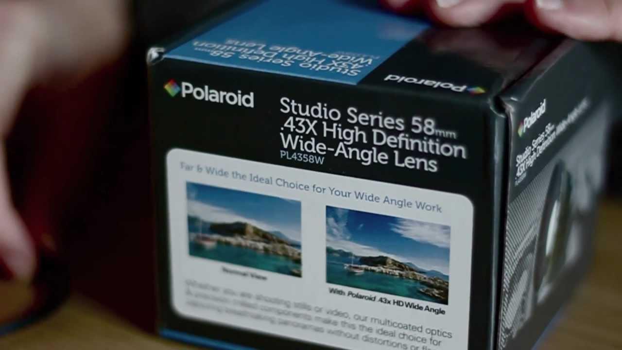 56ee42bc09 Polaroid .43x Wide Angle Lens w  Macro