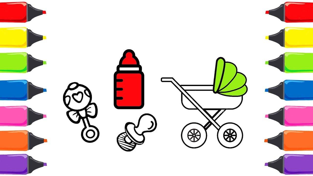 Oyuncak Bebek Bakımı Boyama Seti Boyama Oyunları Boyama