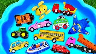 Toys Review and Learning Name and Sounds Police car, Fire Truck