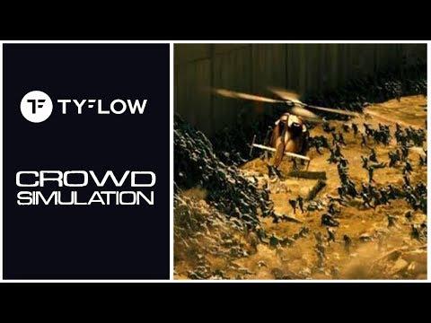 TyFlow - Crowd Simulation Tutorial