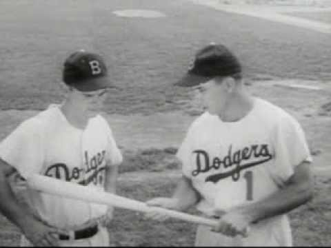 1958 L.A. DODGERS Commercial for Gillette Razors w/ Pee Wee Reese & Roy Campanella