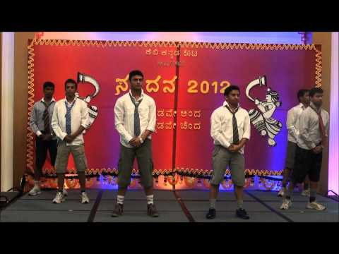 Spandana 2012 Brunei - Men group dance