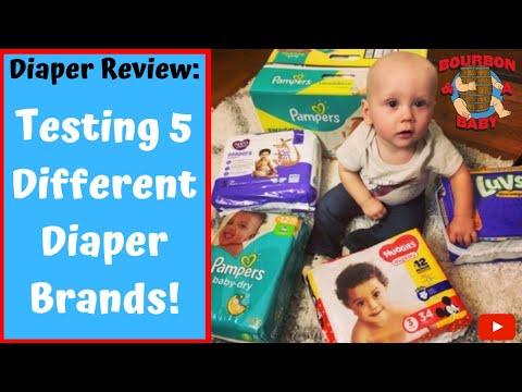 Testing 5 Different Diaper Brands: Diaper Review