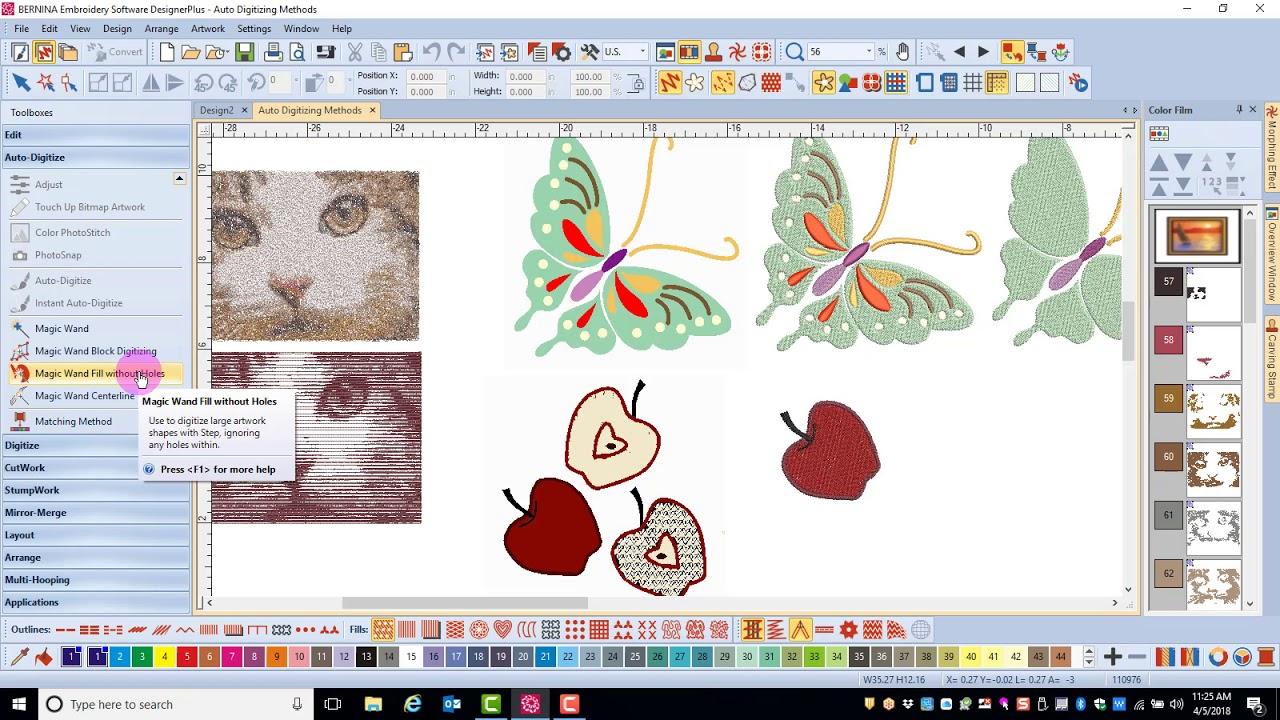 Master BERNINA Embroidery Software 8—Auto-Digitize Toolbox: Automatic  Digitizing Options