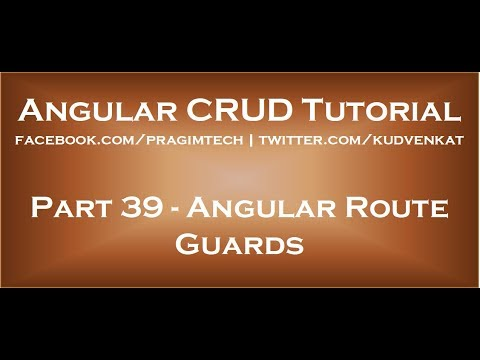 Angular route guards