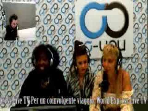 WORLD EXPRESS LIVE TV con MARCIA SEDOC & FLOWER TERRY ospite TATIANA PREVIATI 07 03 2014