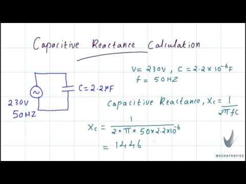 Capacitive reactance calculation