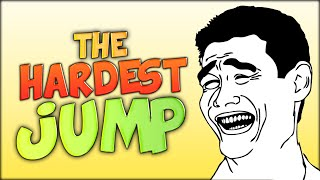 LAUGHING AT THE HARDEST JUMP OF ALL TIME (Minecraft)