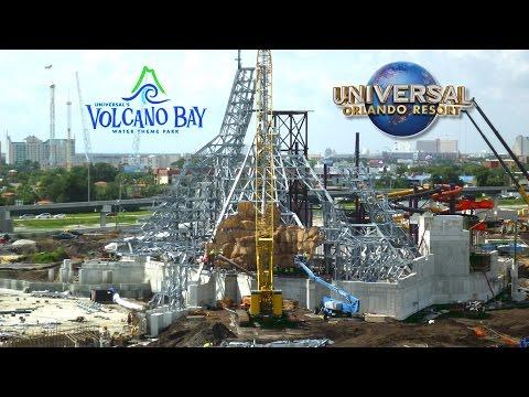 Volcano Bay Construction June 2016 - Universal's Water Park - Volcano & Slides Construction Update