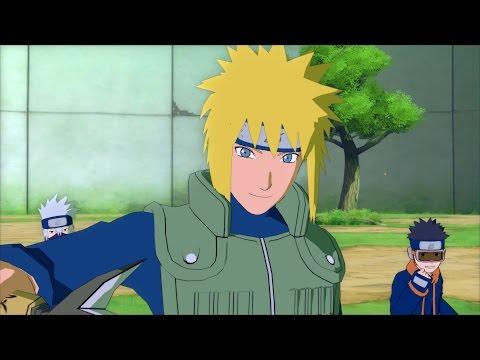 Minato, Young Kakashi & Obito vs. Kakashi, Naruto & Sasuke - NS:UNS4