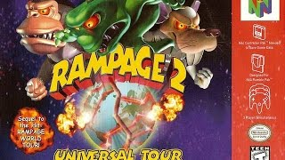 Rampage 2: Universal Tour N64 Playthrough - AMERICA RESCUE GEORGE