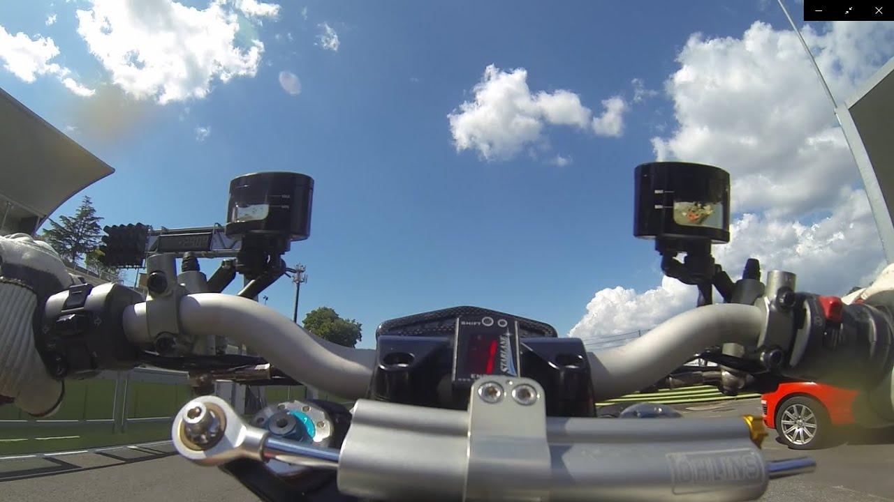 Onboard Ducati Streetfighter 1098, esordio Vallelunga