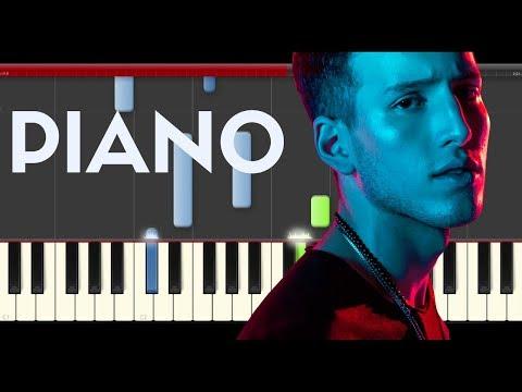 Sebastián Yatra  Alguien Robó  Wisin Nacho piano midi tutorial sheet partitura cover app karaoke