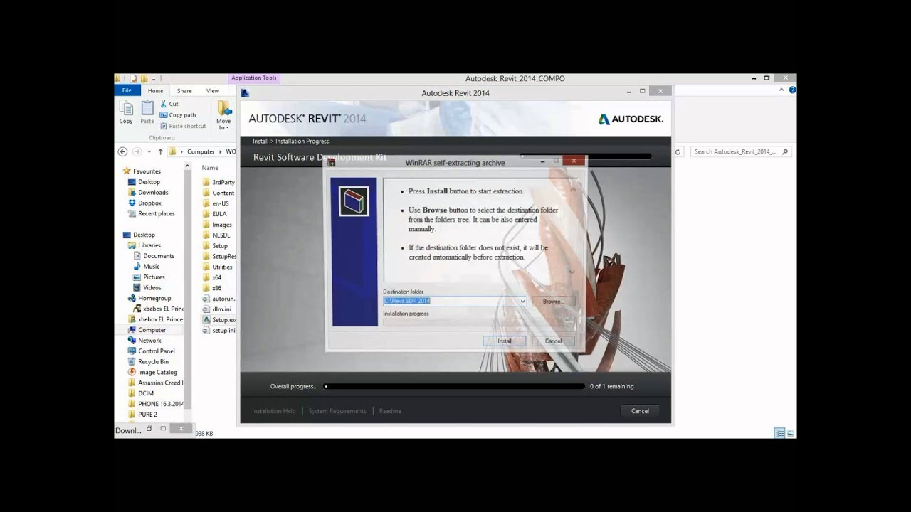 how to install revit architecture 2014