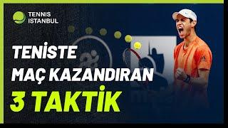 Teniste Maç Kazanmak için 3 TAKTİK! Tenis Maçı Nasıl Kazanılır? Maç Kazanma Stratejileri